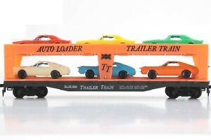 HO Tyco Frisco / SL-SF 50ft Auto Loader w/ Detailed Original Cars, Excellent