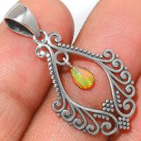 Ethiopian Opal 925 Sterling Silver Pendant Jewelry AP228949 296A XGB