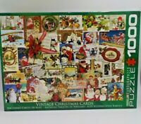 Vintage Christmas Cards Jigsaw Puzzle 1000 Piece Eurographics