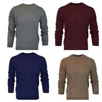 MEN`S CREW NECK COTTON BLEND JUMPER AUTHENTIC SWEATER TOP