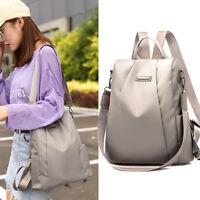 Women Lady Waterproof Oxford Travel School Girl Backpack Anti-theft Shoulder Bag