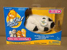 New in box! Zhu Zhu pets hamster plush black / white named BAMBOO