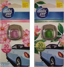 2x FEBREZE ambi pur CAR Duft für Auto 1x Regenwald Brise und 1x Blume und Feder