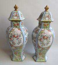 Paris. Samson. Paire de vases en porcelaine dans le goût de la Chine, XIXe