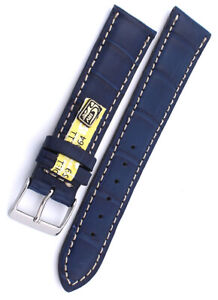 20mm Louisiana ALLIGATOR echt KROKOBAND handmade Germany Uhrenarmband 20/18mm