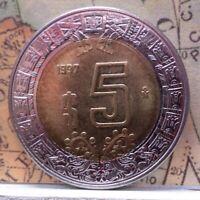 Mexico: 1992 Mo 5 Nuevos Pesos  KM# 552 B-271