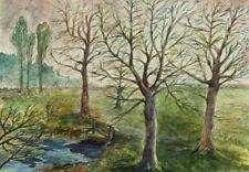 Watercolour Landscape Green Art Paintings