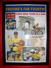 Chris Froome 2017 Tour de France winner - framed print