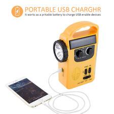 RD339 Emergency Weather AM/FM Radio Dynamo Light Solar Hand Crank Self Powered