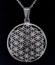 Sehr schöner großer Anhänger,Blume des Lebens,aus Silber 925