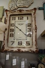BEAUTIFUL FRENCH FARMHOUSE ANTIQUE REPRODUCTION LARGE FRAMED WALL CLOCK