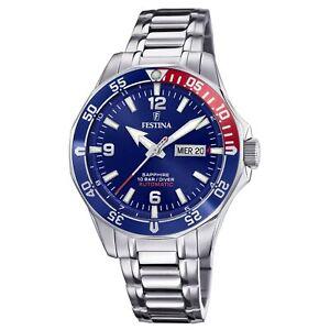 Festina F20478-2 Men's Blue Dial Automatic Wristwatch