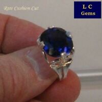 10.75 ct Gorgeous Kashmir Sapphire Blue Sapphire Silver Ring