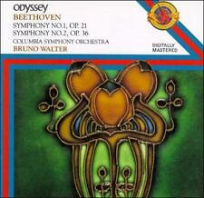 Symphonies 1 & 2, Walter, Columbia Symphony, Beeth - (Compact Disc)