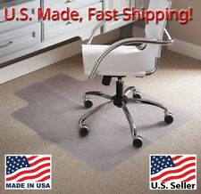 ES Robbins Lipped Foldable Chair Mat for Home, office Carpet protector PVC 36x48