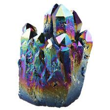 Rainbow Drusy Quartz Geode Titanium Coated Crystal Cluster Specimen Ornament