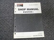Honda Eu6500is Electric Start Inverter Generator Shop Service Repair Manual