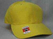1 YELLOW BASEBALL HAT  FITTED 7 1/2  80% ACRYLIC 20% WOOL  (Y1)
