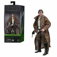"FREE SHIPPING! Star Wars Black Series HAN SOLO ( ENDOR TRENCH COAT) 6"" AF HASBRO"