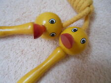 New Children's Kids Jump rope with Wooden Duck Handle