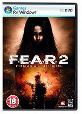 F.E.A.R 2 II Project Origin FEAR for (PC DVD) SEALED NEW