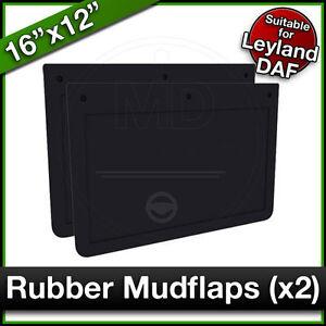 "LEYLAND DAF 16"" x 12"" (410 x 305mm) Truck Lorry RUBBER MUDFLAPS Mud Flap PAIR"