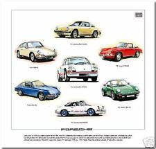 CLASSIC PORSCHE 911 - Fine Art Print - 911S Carrera RS Turbo 912 Targa - 1963-77