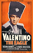 The Eagle Rudolph Valentino 1925 Silent Movie 12x8 Inch Reprint Poster