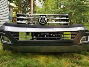 2018 2019 2020 Volkswagen Atlas Front Bumper 6 Sensor Camera Grill Platinum Gray
