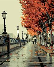 """DIY Acrylic Paint By Numbers Kit Autumn Art Craft Wall Canvas For Adults 16*20"""""""