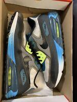 Nike Air Max Lunar90 C3.0 Shoes US Mens Size 11.5 631744-003 Blue/Gray/Volt