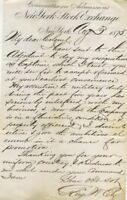 ALS  George W. Ely; & William Waldorf Astor to Col. E. Clark NYC 7th Regiment