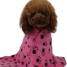 Warm Pet Blanket Dog Cat Soft Paw Print Mat Blankets Co