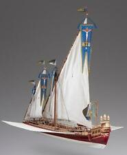 "Elegant, Ornate Wooden Model Ship Kit by Dusek: the ""La Real"""