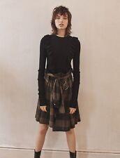Zara Khaki Check Kilt Skirt Size X SMALL BNWT