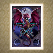 DIY 5D Diamond Embroidery Painting Dragon Pentagram Cross Stitch Home Art Decor