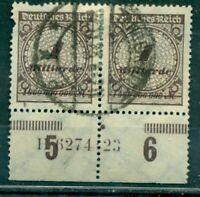 Deutsches Reichl, Wertziffern Nr. 325 A Paar HAN gestempelt Inflageprüft