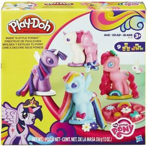 Play-Doh My Little Pony Make 'n Style Ponies Kids Gift Playset New