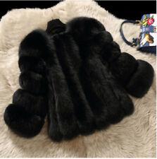 Hot 100%25 Real Genuine Fox Fur Coat Long Short Jacket Overcoat Women Winter Parka