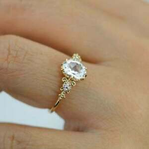 2Ct Oval Cut VVS1/D Diamond Solitaire Engagement Ring In 14K Yellow Gold Finish