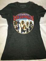 Led Zeppelin Graphic Tour Concert Band Music T-shirt - Band Gray Women's Medium