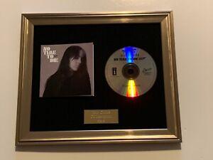 BILLIE EILISH - NO TIME TO DIE FRAMED CD PRESENTATION.JAMES BOND 007. RARE