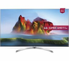 "LG 55SJ810V 55"" Smart 4K Ultra HD HDR LED TV - Silver / NEW / RRP 1299.99£"