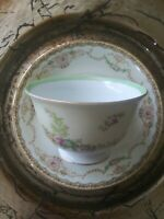 VTG MEITO Japan Delicate Flower Pattern Tea Cup & Saucer. EUC.