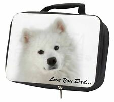 Samoyed 'Love You Dad' Sentiment Black Insulated School Lunch Box Ba, DAD-116LBB