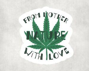 2 x Smoke Ganja Leaf Weed 420 Everyday Sticker Car Bike Laptop Indoor Decals
