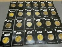 Star Wars Commemorative Collector's Gold Coin Dark Vader Boba Fett You Pick