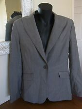 Ladies Satch 100% Wool Made in Australia Grey Tailored Business Office Jacket