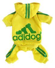 Adidog Pet Clothes XL Dog Hoodie Coat Sweatshirt Sweater Yellow Green Jumpsuit
