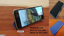IPHONE 6 FLIP CASE / FLIP COVER-GENUINE GEAR4 REVERSIBLE COLOUR FLIP BLUE BLACK